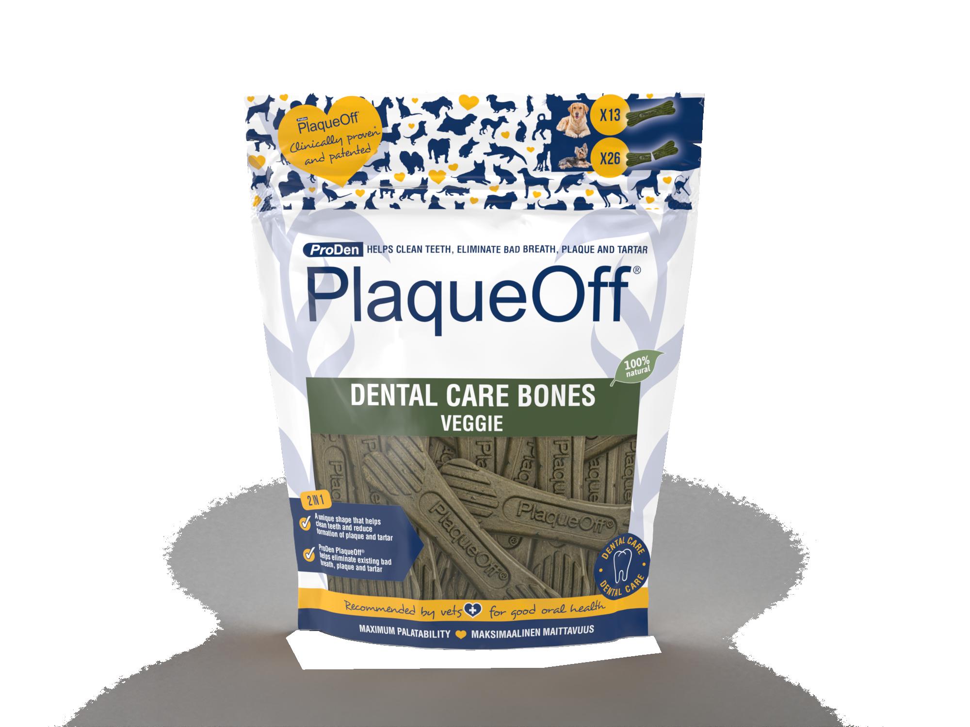 ProDen PlaqueOff® Dental Care Bones – Veggie
