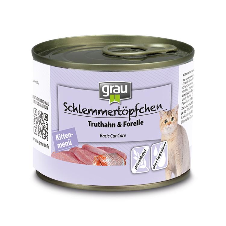 Kittenmenu kalkoen & forel